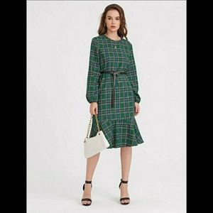 NWT Green Belted Dress